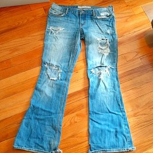 Hollister destroyed cali flare jeans